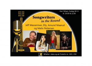Songwriters in the round: Elly, Malin Pettersen, Amund Maarud og Jeff Wasserman.