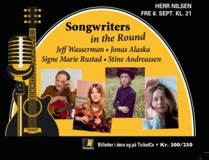 Songwriters in the Round: Jonas Alaska, Stine Andreassen, Signe Marie Rustad og Jeff Wasserman